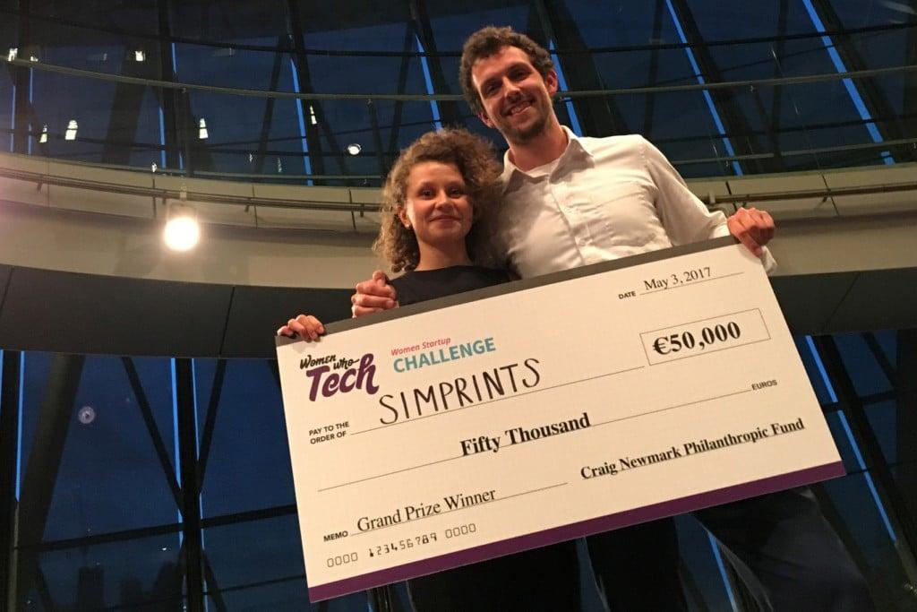 Simprints lands grand prize at Women Startup Challenge Europe