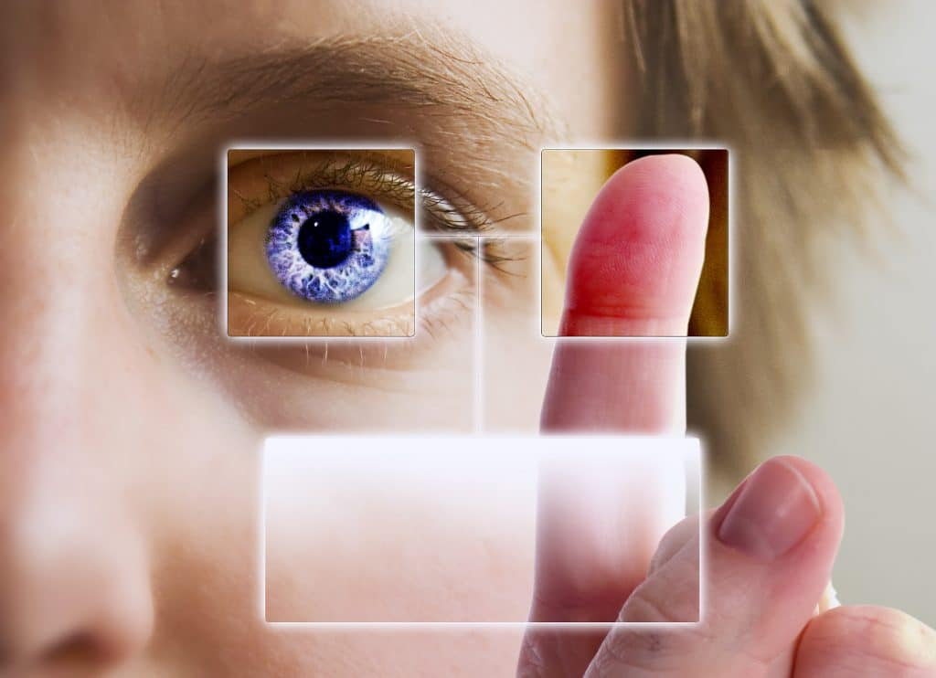 Biometrics - eye, fingerprint