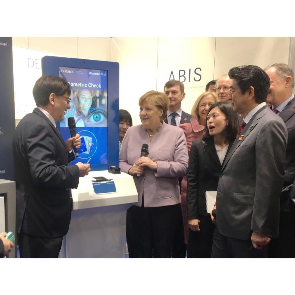 DERMALOG demonstrates biometric solutions for German Chancellor, Japan PM