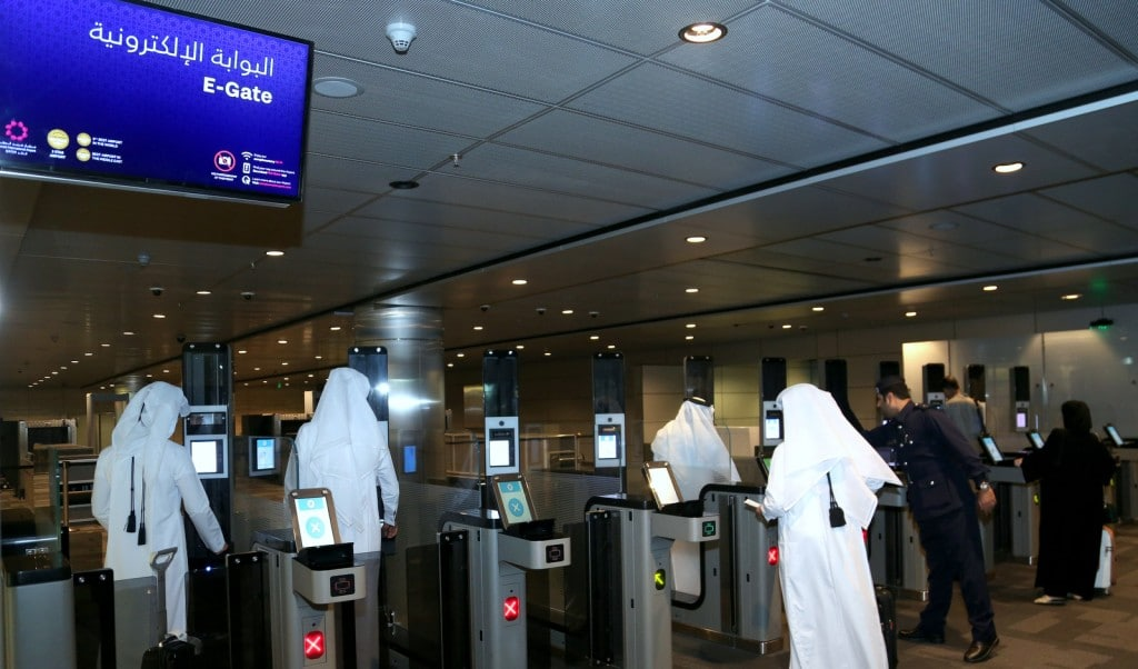 Iris ID providing biometric ID technology at Qatar's Hamad International Airport
