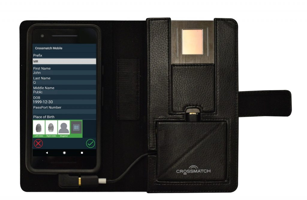 Crossmatch featuring new mobile fingerprint reader at Modernising Justice conference