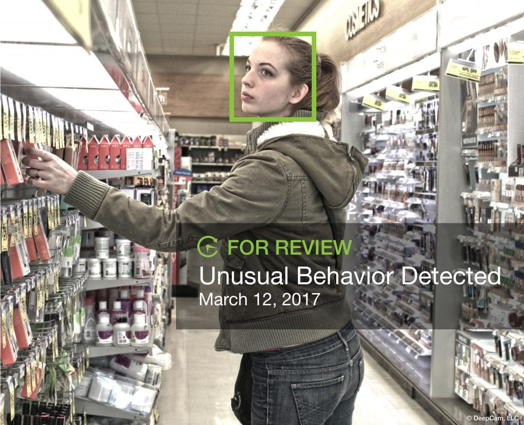 DeepCam AI solution for retail loss prevention available as a subscription service