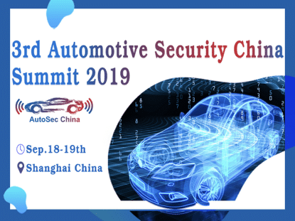 3rd Automotive Security China Summit 2019