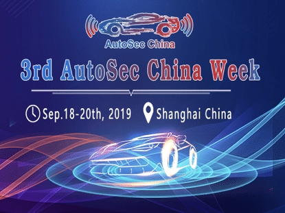 3rd AutoSec China Week 2019