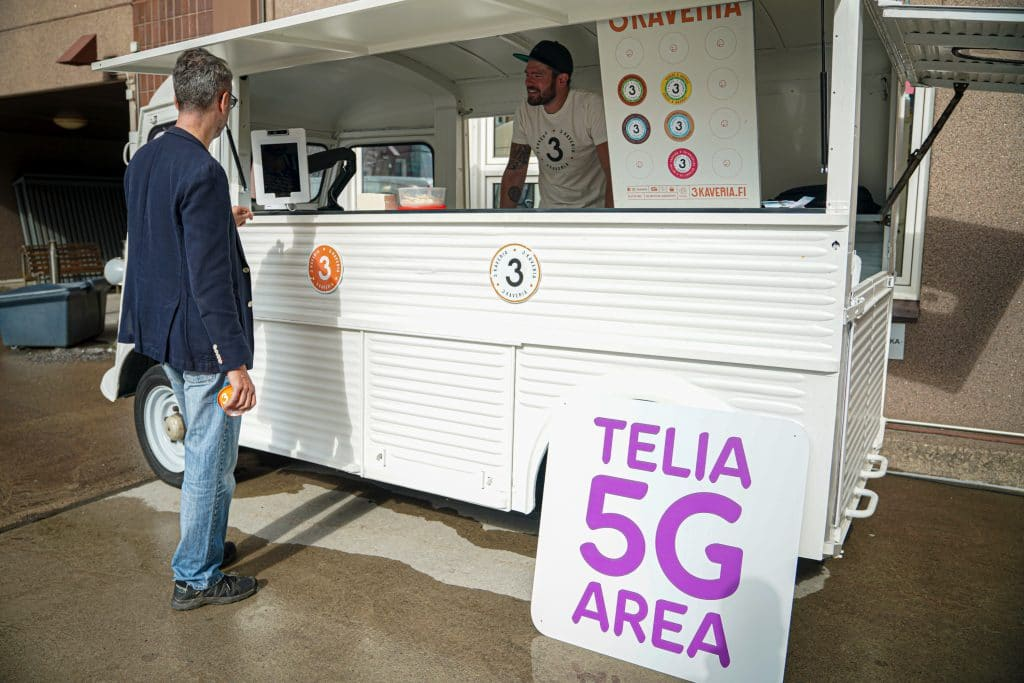 Telia demonstrates 5G network with facial biometric payments to ice cream truck