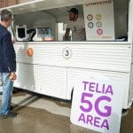 Telia 5G network biometric payments ice cream truck