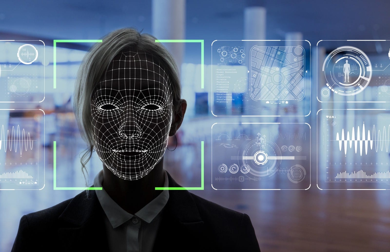 Biometric facial recognition to verify identity