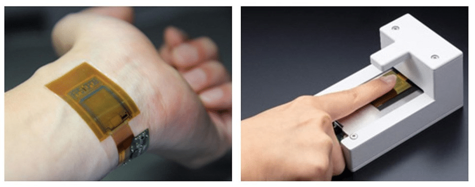 New flexible, thin image sensor measures fingerprints, veins and biometric signals