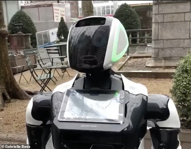 Promobot - robots with facial recognition designed to replace human fever checks and deliveries
