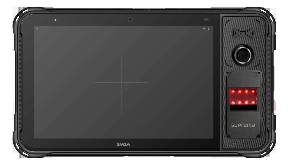 SIASA biometric tablet with Suprema fingerprint scanner
