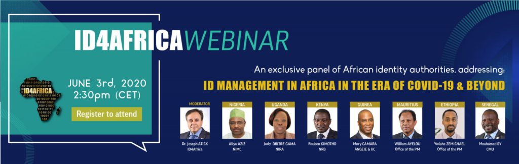 ID4Africa webinar – ID management in Africa in the era of COVID-19 and beyond