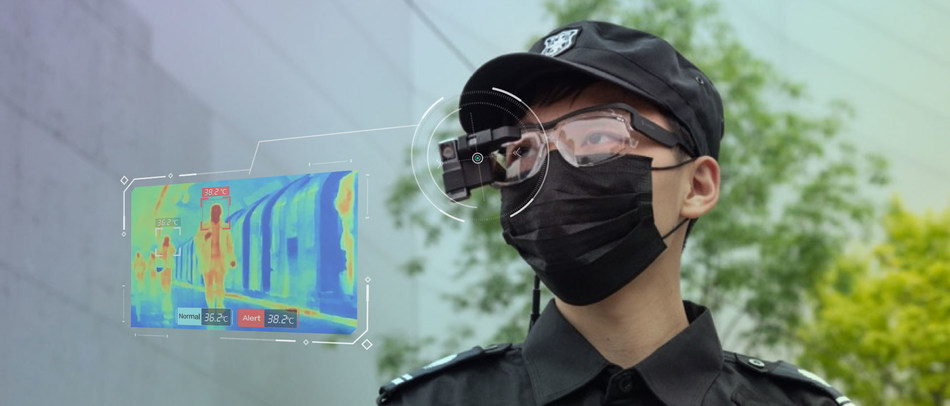 Dual Spectrum Infrared Thermometric AI Smart Glasses.