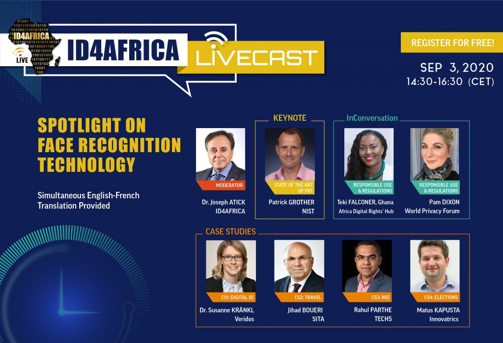 ID4Africa livecast – Spotlight on Facial Recognition Technology