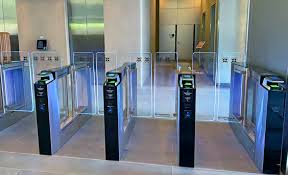 Idemia contactless biometric terminal integrated in Cominfo entrance control gates