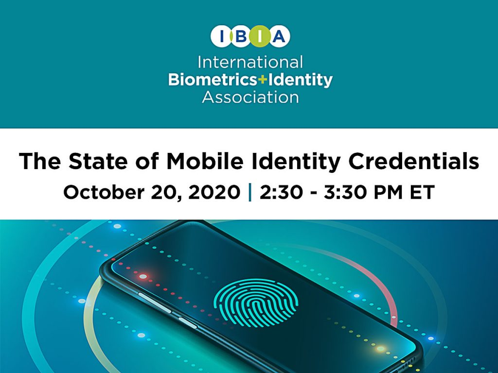 IBIA Webinar: The State of Mobile Identity Credentials