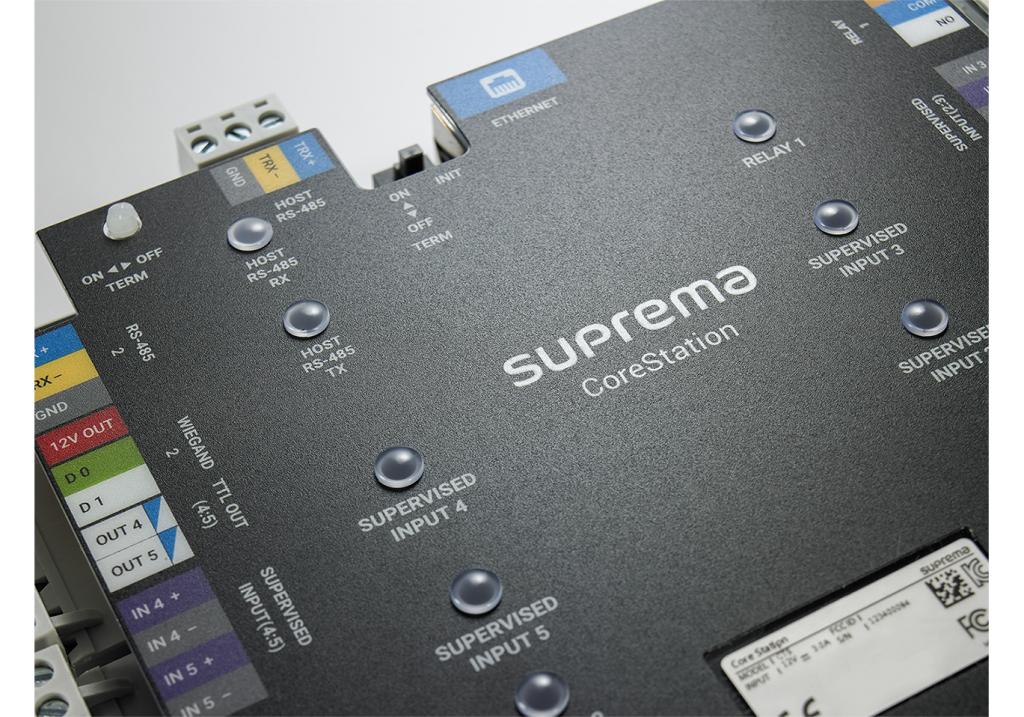 Suprema biometric access controller certified for UL 294 reliability