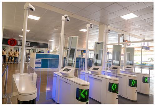 Panasonic biometric eGates at Cape Verde Airport