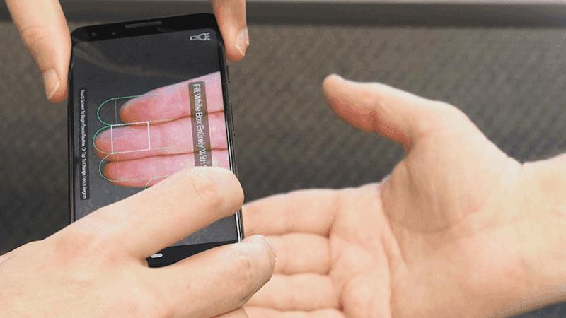 """Neue Patente für eine Technologie zur Verbesserung der Bildqualität für berührungslose biometrische Fingerabdrücke, die mit """"mobilen Geräten"""" erfasst werden"""