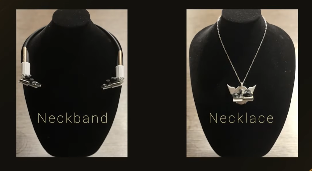 Wearing your facial recognition system around your neck