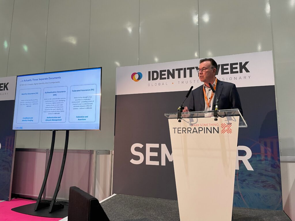 Aware CCO pitches NIST Digital Identity Guidelines at Identity Week