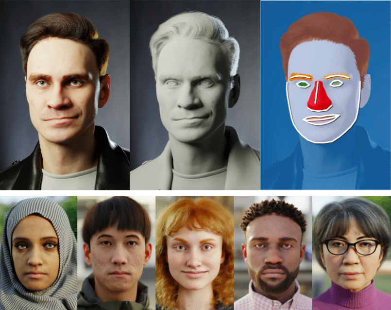 Microsoft demonstrates facial analysis in the wild using just synthetic data